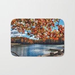 Fall Day at the Lake Bath Mat