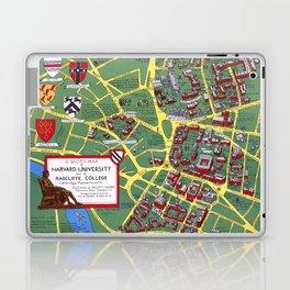 HARVARD University map CAMBRIDGE Laptop & iPad Skin