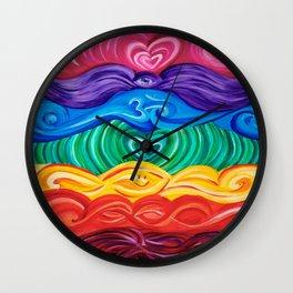Chakra Art Wall Clock