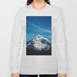 Moonrise Mt Hood Long Sleeve T-shirt