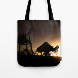 fly with the sunset Tote Bag