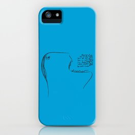 Eat a Song iPhone Case