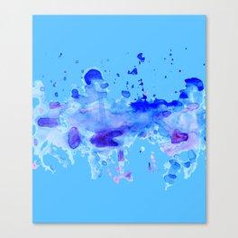 Blue Watercolor Blot Canvas Print