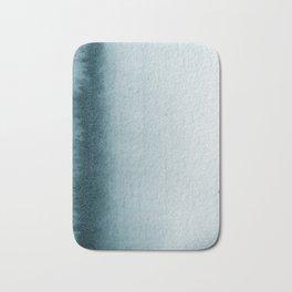 Teal Vertical Blur Abstract Art Bath Mat