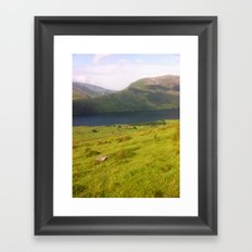Wales watercolour Framed Art Print