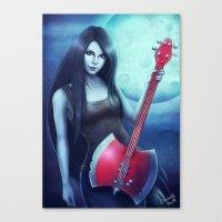 marceline Canvas Prints featuring Marceline by Emeraldus