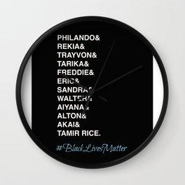 Say Their Names-Black Lives Matter Art Wall Clock