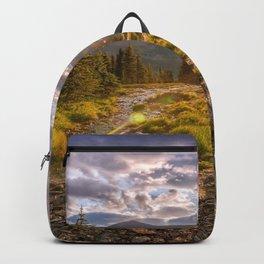 Majestic Glacier National Park Montana United States Ultra HD Backpack
