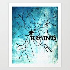 Terminus Map Art Print