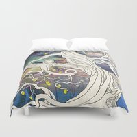 lime Duvet Covers featuring Lime Tree by KATIE PAYNE