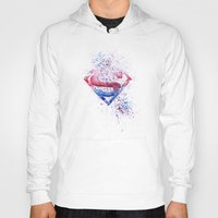 superman Hoodies featuring Superman by emegi
