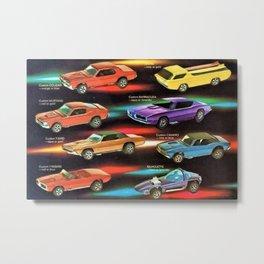 1968 Vintage Introducing Red Line Hot Wheels Catalog Poster Metal Print