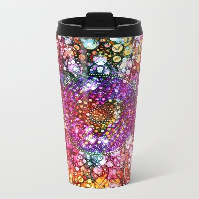Distressed Mandala  Metal Travel Mug