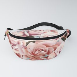 Fashion illustration, print for T-shirt with ice cream from rose flowers Fanny Pack
