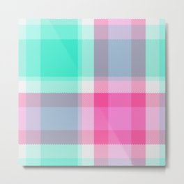 Summer Plaid 10 Metal Print