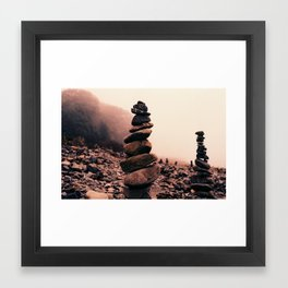 Bar Harbor Cairn (3) Framed Art Print