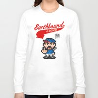 earthbound Long Sleeve T-shirts featuring Earthbound & Down by Jango Snow