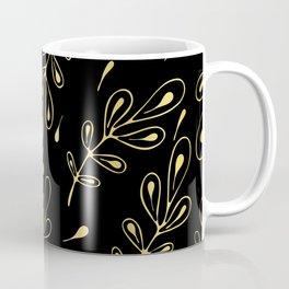 Luxe Leaves Line Art Seamless Pattern, Hand Drawn Nature Coffee Mug