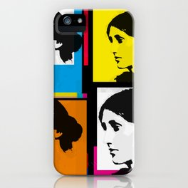 VIRGINIA WOOLF (FUNKY COLOURED COLLAGE) iPhone Case