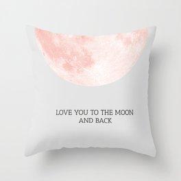 Moon 01 Throw Pillow
