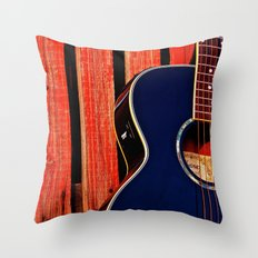 6 Strings and a Barn Throw Pillow