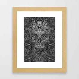 Skull - Escher Textur Framed Art Print