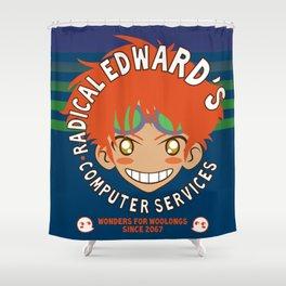 Classic Anime Otaku Computer Tech Geek Radical Edward Wonders for Woolongs Shower Curtain