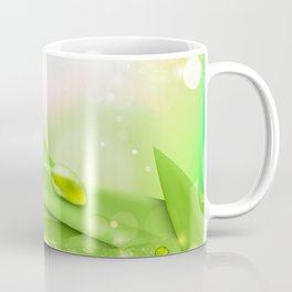 pastel colors with green grass and dew Coffee Mug