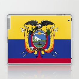 Ecuador flag emblem Laptop & iPad Skin