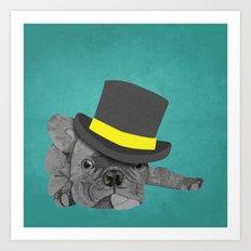 Dapper Dog - French Bulldog Art Print