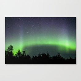 A Ribbon of Green Aurora Borealis Canvas Print