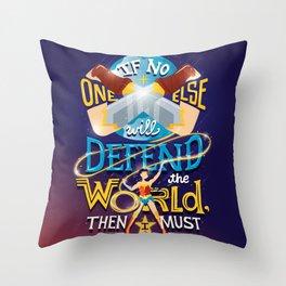 Defend your world v2 Throw Pillow
