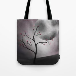 Midnight Peach Tote Bag