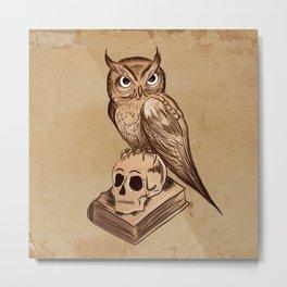 Wise Old Owl Metal Print