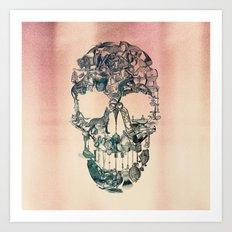 Skull Vintage Art Print