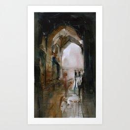 Under the Ali Qapu palace Art Print