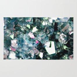 Geode Crystal Turquoise Pink Quartz Rug