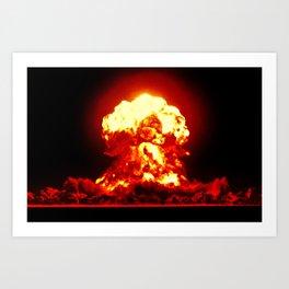 atomic bomb  Art Print