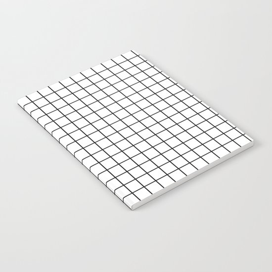 Emmy -- Black and White Grid, black and white, grid, monochrome, minimal grid design cell phone case Notebook