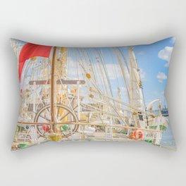 Sailing Ship Naval School Parked at Port Rectangular Pillow