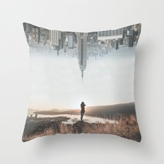 Between Earth & City Throw Pillow