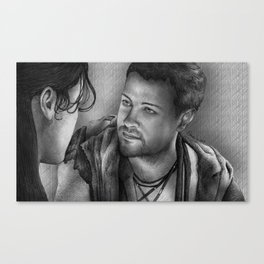 Nagron First Kiss (Agron, Spartacus) Canvas Print