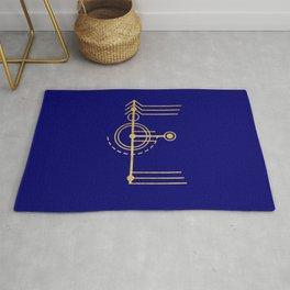 Sacred Geometry Letter E Rug