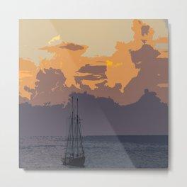 Barbados Sunset (Art Version) Metal Print