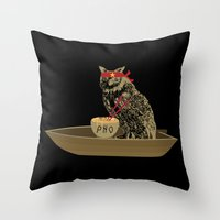 vietnam Throw Pillows featuring Vietnam Owl by October's Very Own