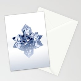 Small heap of crushed ice pieces Stationery Cards