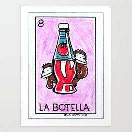 Loteria Ape #8: La Botella Art Print