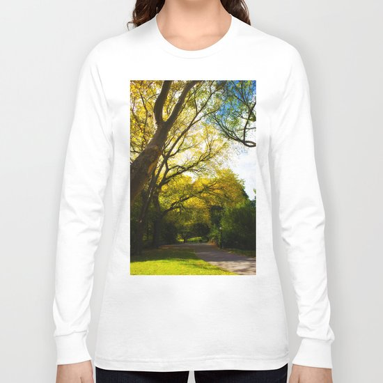 walking in Central park Long Sleeve T-shirt