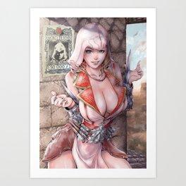 Assassin's xxx 2 female version sexypost Art Print