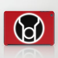 green lantern iPad Cases featuring Green Lantern: Red Lantern by The Barefoot Hatter